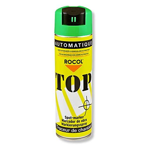 TOP Markierungsspray Rocol - GRÜN - 500ml-Farbdose - Farbspray - Markierspray - Markierungsfarbe - Forstspray - Forstfarbe