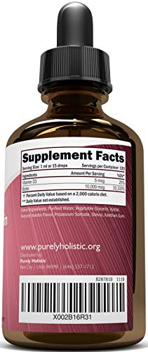 Extra Strength 10000mcg Biotin Liquid Drops, 120 Servings Double Size, Vegan Friendly Biotin Oil Serum with Vitamin D3, Supports Healthy Hair Growth, Strong Nails and Glowing Skin
