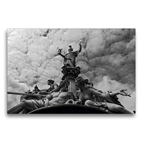 CALVENDO Premium Textil-Leinwand 75 x 50 cm Quer-Format Pallas Athene Brunnen, Parlament, Leinwanddruck von Alexander Bartek
