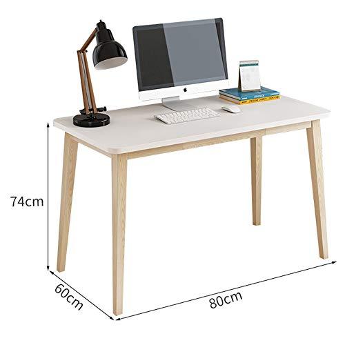 YNN Table Bureau en Bois Massif Étudiant Simple de Bureau (Taille : 80cm)