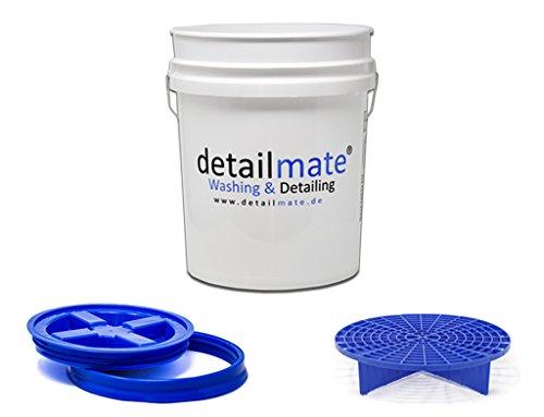 GritGuard Detailmate Wasmachine, 5 g (ca. Gamma Seal, emmerdeksel, blauw, inhoud 20 liter, kleur wit, inhoud emmer
