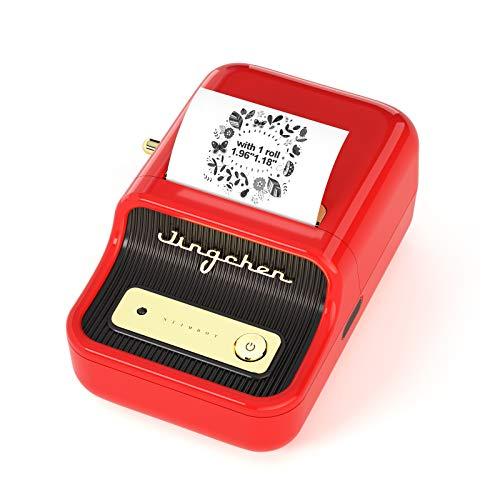 Máquina para hacer etiquetas con 1 rollo de cinta libre NIIMBOT B2 Vintage 2 pulgadas de ancho...