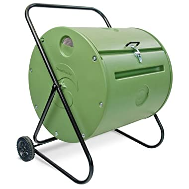 Mantis Back Porch ComposTumbler CT08002 - Engineered to Make Compost Fast - Holds 37 Gallons - Low Cost Per Gallon - Mobile Rolls Direct to the Garden