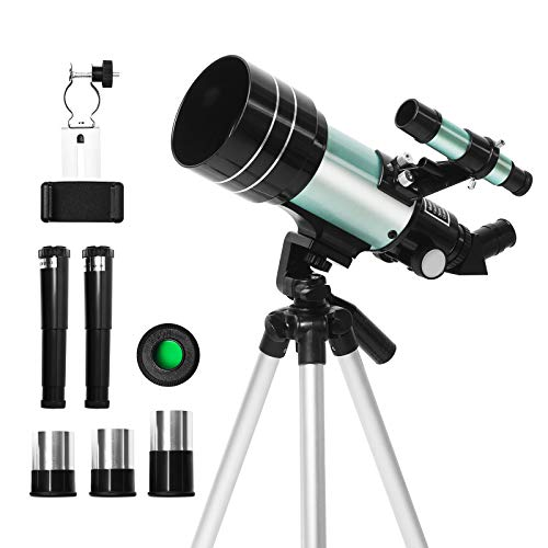 Telescope, Beletops Telescope for Kids & Beginners 70mm Aperture 300mm Astronomical Refractor Telescope (15X-180X) Portable Travel Telescope with an Adjustable Tripod and Phone Adapter