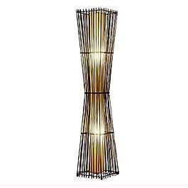 Allamp Lampadaire moderne Tissés à la main en rotin Lampadaire Pastoral bambou Lampe standard Compatible with Chambre…