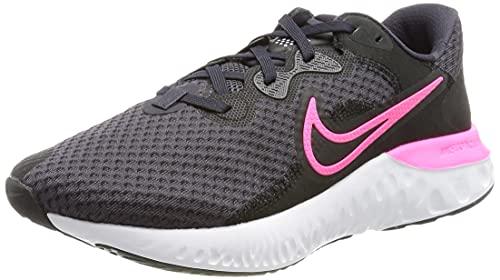 Nike Renew Run 2, Zapatillas para Correr Mujer, Negro y Rosa, 41 EU