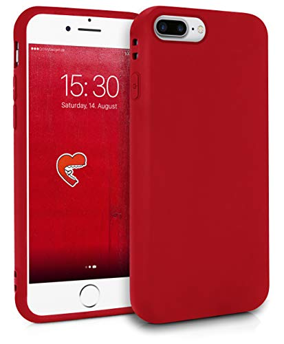 MyGadget Coque Silicone pour Apple iPhone 7 Plus / 8 Plus - TPU Case - Housse Protection - Bumper Étui Flexible Anti Choc et Rayures - Rouge
