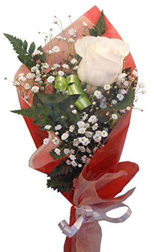 Rosa blanca natural a domicilio con envio y dedicatoria incluido