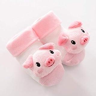 IAMZHL, Dibujos Animados recién Nacido bebé niño Piso Calcetines Antideslizantes algodón con Campana muñeca bebé niña niño Suave Lindo Piso de casa Zapatos-a10