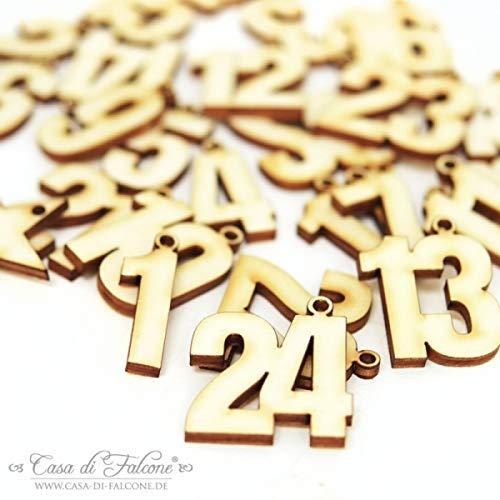 Holzzahlen für Adventskalender