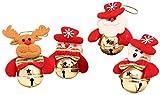 XINRUIBO 4 Pz Doll Natale Appeso Cartoon Pupazzo di Neve Babbo Natale Bells Pendenti Impiccagione Ornamenti Ornamenti for Banchetti Festival Albero di Natale Pupazzo Natale (Color : Picture 2)