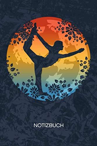 NOTIZBUCH: A5 Kariert - 120 Seiten KARO - Geschenkidee für Yogalehrerin Heft Yoga Notizheft - Vintage Notizblock Pilates Motiv - Yogi Geschenk Yogaübungen