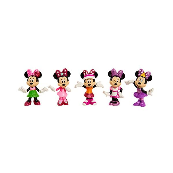 Just Play Disney Minnie Mouse Collectible Figure Pack Set 4