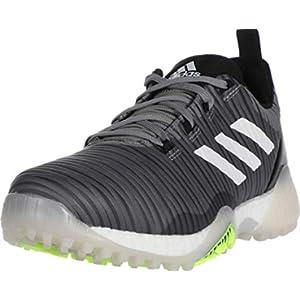 adidas Men's CODECHAOS Golf Shoe, Grey Three/Signal Green/Glory Blue, 9.5 Medium US