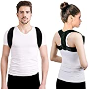 Posture Corrector Back Brace Support - Effective and Comfortable Posture Corrector Adjustable Upper Back Straightener Brace Invisible Shoulder Pulling Chest Support Pain Relief for Women Men (S)
