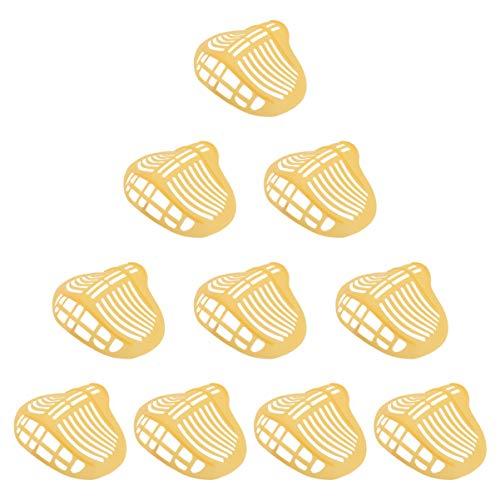 BESPORTBLE 10 Stück 3D Mundschutz Unterstützung Bandana Lippenstiftschutzständer Lippenschutz Nase Atmung Atmungsaktiv Rahmen Wiederverwendbar Make Up Schutz Gelb