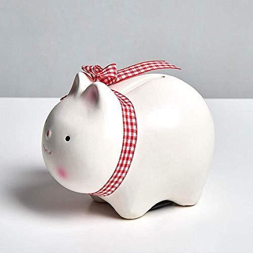 JKCKHA Decoraciones del Arte del Arte Conejo de cerámica Hucha niños de la decoración Hucha Regalo a casa de la Sala de Estar