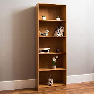 Vida Designs Cambridge 5 Tier Extra Large Bookcase, Oak Wooden Shelving Display Storage Unit Office Living Room Furniture