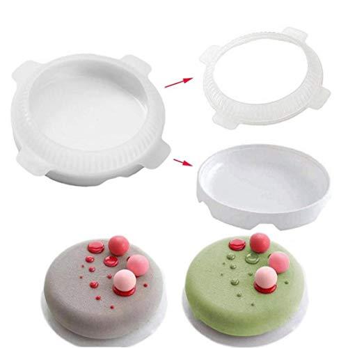 Round Eclipse Silicone Gâteau Moule pour Mousses Crème Glacée en Mousseline De Soie Gâteaux Cuire Au Four Pan Décoration Accessoires Outils Bakeware