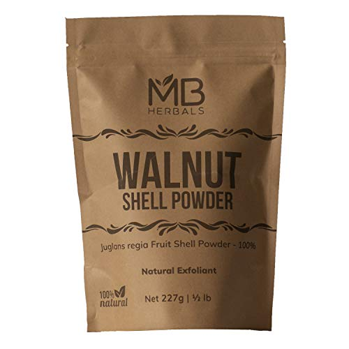 MB Herbals Walnut Shell Powder 227g | 8 oz / Half Pound | 60-80 Mesh...