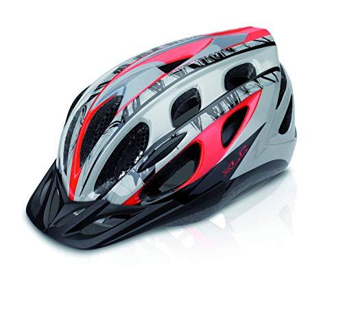 XLC Unisex volwassenen fietshelm BH-C18, rood, grijs, 54-58 cm