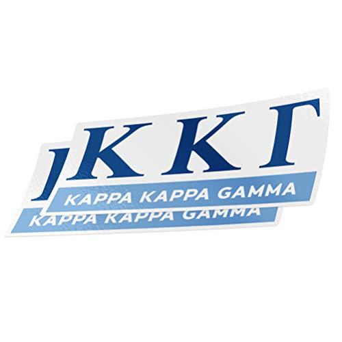 Desert Cactus Kappa Kappa Gamma 2-Pack Decal Greek for Window Laptop Computer Car KKG (Color/Letter Name Sticker)