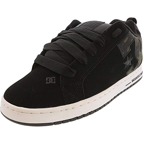 DC Men's Court Graffik SE Skate Shoe, Black camo, 8.5 Medium US
