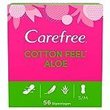 Carefree Cotton Aloe - Protegeslips (transpirable, con algodón y contracto de algodón, 5 x 56...