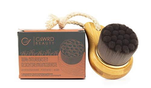 C4wrd™ Naturborsten Gesichtsbürste mit Bambus Aktivkohle Nanofasern als softe exfolierende Massage