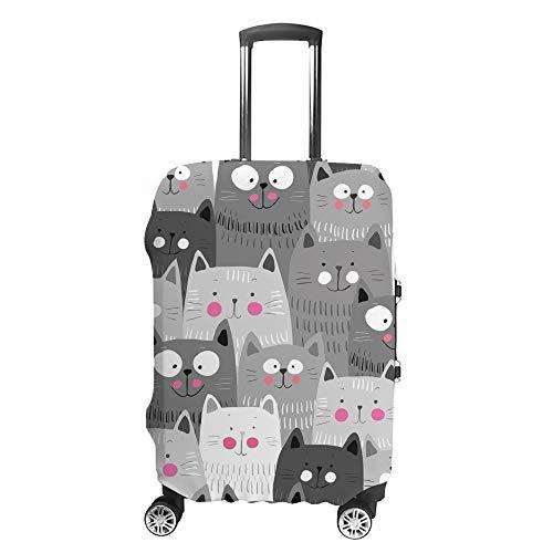 Funda para maleta de viaje de Chehong, de poliéster resistente al agua, con diseño de gatos, colorido, lavable a prueba de polvo, apto para 18 – 32 pulgadas
