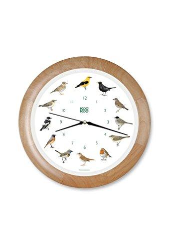 KOOKOO Gartenvögel Uhr mit Holzrahmen