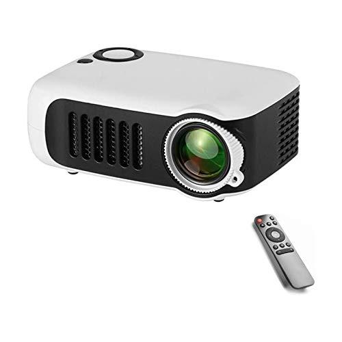 ZXN RTU Impresionante calidad de imagen Mini proyector de vídeo portátil Proyector WiFi, 3800 lúmenes, compatible con TV Stick, PS4, HDMI, VGA, SD, AV y USB, cine en casa