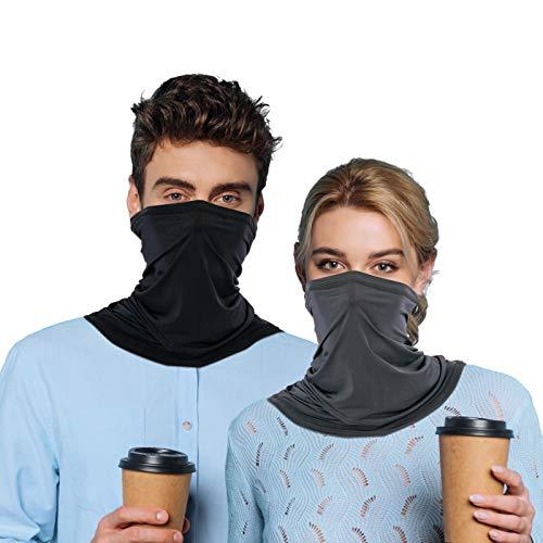 Halstuch Mundschutz, Bandana Mundschutz Damen Herren, Weich Atmungsaktiv Schnelltrocknend UV Schutz Gesichtsmasken, Halstuch Schlauchtuch Elastisch Stirnband für Laufen Radfahren Motorradfahren