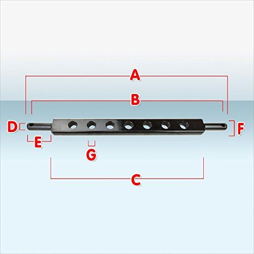 DS Ackerschiene Kat1/Kat2 zur Aufnahme von Traktor- Arbeitsgeräten in 9 verschiedenen Ausführungen (Ackerschiene 72 cm | Kat.1)