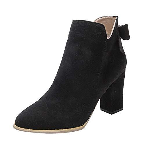 Levifun Stiefeletten Damen Mode Schuhe Damen Vintage Stiefeletten Mode Chunky Ankle Boots Aus...