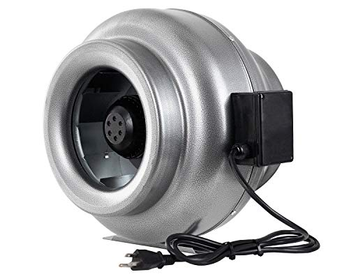 iPower 12 Inch 1060 CFM Inline Duct Ventilation Fan HVAC Exhaust Blower for Grow Tent, Grounded Power Cord