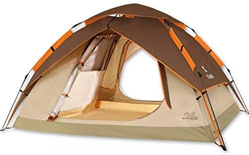 LAZ Outdoor Tent Camping Tent Awning Thickening Breathable and Durable Outdoor Travel Home Beach Tent ,Aluminum Alloy Bracket ,Available in All Seasons , Camping (Color : Brown)