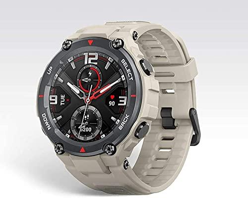 CNZZY 2021 Reloj inteligente para hombre 5ATM Impermeable Monitor de ritmo cardíaco 14 Modo deportivo Reloj inteligente GPS/GLONASS Pantalla AMOLED para iOS Android (C)