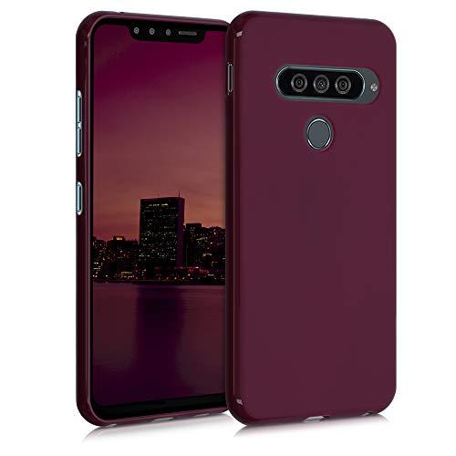 kwmobile Hülle kompatibel mit LG G8s ThinQ - Hülle Silikon - Soft Handyhülle - Handy Hülle in Bordeaux Violett