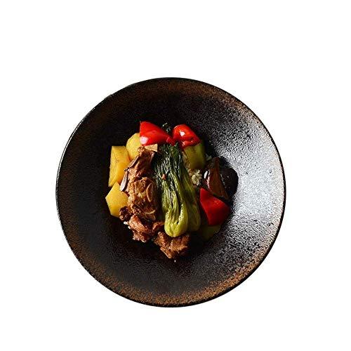 BINGFANG-W 1pcs Estilo japonés Ramen Recipiente de Barro de la Vendimia tazón ricen Oro Negro vajilla Accesorios de Cocina Cocina