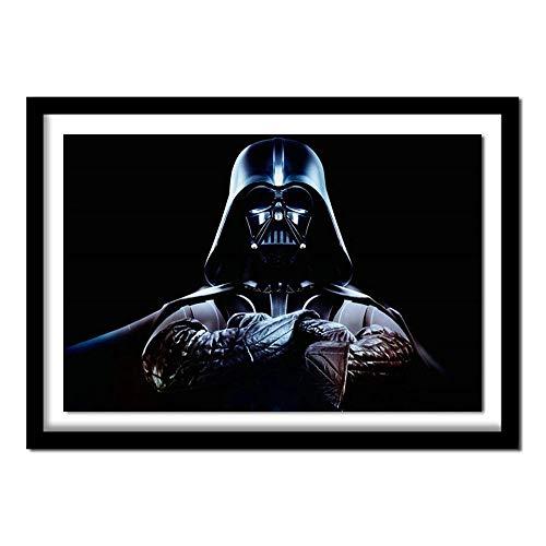 5D Diamante Pintura Darth Vader Star Wars Punto de cruz Diamante Diamante Bordado Cuadros Diamantes de imitación Decoración del hogar Diamante Pintura Cruz Diamante redondo 40Cm * 30Cm Cooldeerydm