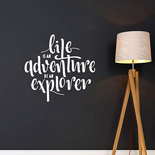 Ajcwhml La Vida es una Aventura, Sea una Pegatina de Vinilo para Pared, calcomanía de Pared con Letras Impermeables, decoración para el hogar, Pegatina extraíble 42x41cm