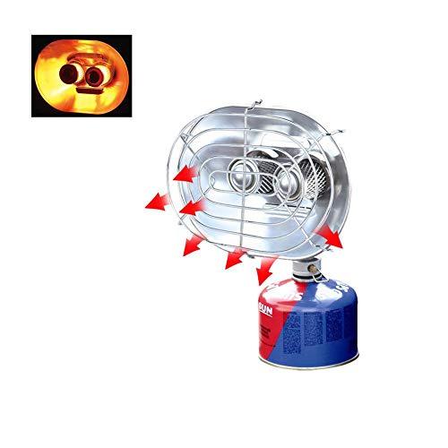 Dream-cool - Calentador portátil de Doble Cabezal para Exteriores, radiador de Rayos Infrarrojos, para Acampada, Calentador, Estufa de Gas, para Invierno, Pesca, Tienda de campaña, Calentador