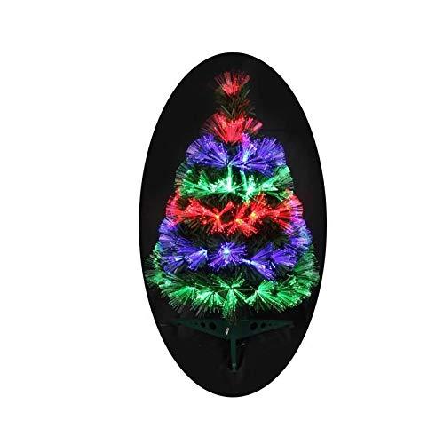 Autour de Minuit 5SAF143MC Sapin Las Vegas Fibre Optique 55 LED Hauteur 60cm, Multicolore