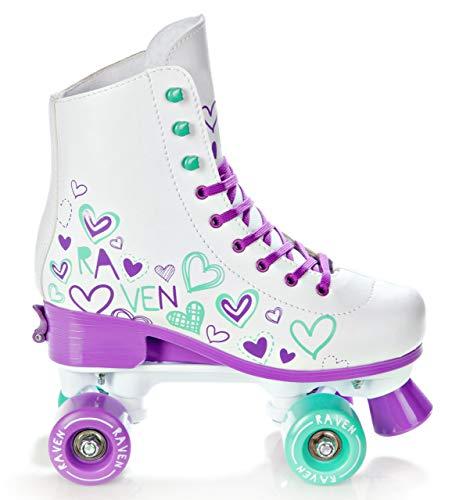 RAVEN Rollschuhe Roller Skates Trista Mint/Violet 35-38 (22,5cm-24cm)