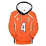 IFITBELT Herren Damen Haikyuu!! Cosplay Hoodie Sweatshirt Pullover Volleyball Boy Jungen Kinder Mädchen Sommer Mode Langarm Kapuzenpullover Tops (S,ball2)