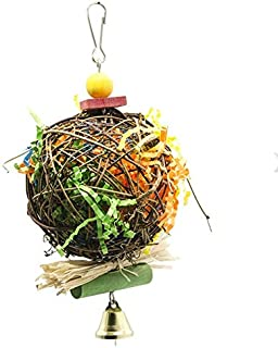 Parrot Toys For Large Bird Bell Accessories Cage Decoration Cockatiel Perch Toy Budgie Parakeet (Size : 58)