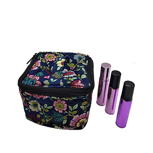 ZLININ Y-longhair 16 Bottle Essential Oil Carrying Case Holds 10-20ML Essential Oil Organizer Bag (Carry Handle On Top) (Color : Multi-colored, Size : 12.5X12.5X8.5CM)