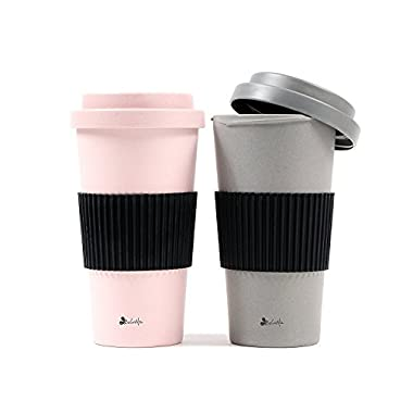 BeGrella 21 oz. Bamboo Fiber Travel Mug Set