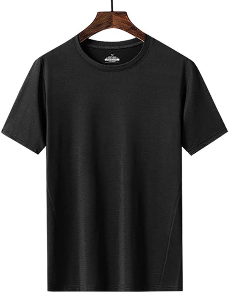 KOYODA UPF50 + Men's Quick Drying U-Neck Short Sleeve T-Shirt